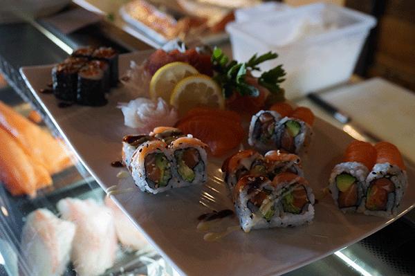 Chalet du Thorens sushi.