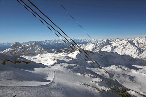 Världens 3:e bredaste pist har en lift med kanske världens bästa utsikt.