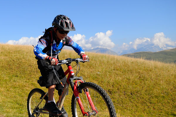 Mountainbiking är extremt populärt i Alpe d'Huez.