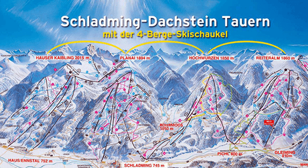 De 4 bergen i Schladming