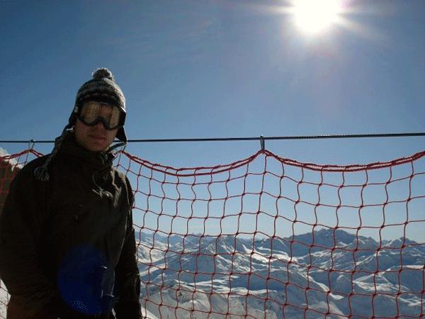 Utsikten över Schindler Spitze från 2660 m höjd