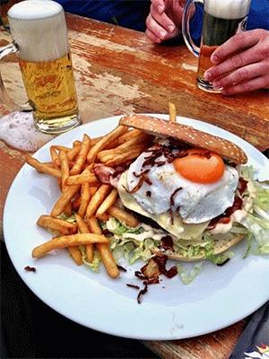 Är detta definitionen av en perfekt lunch i backen