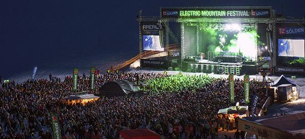 Electric Mountain Festival är bland det största i Alperna – kom tidligt, om du ska få en bra plats!