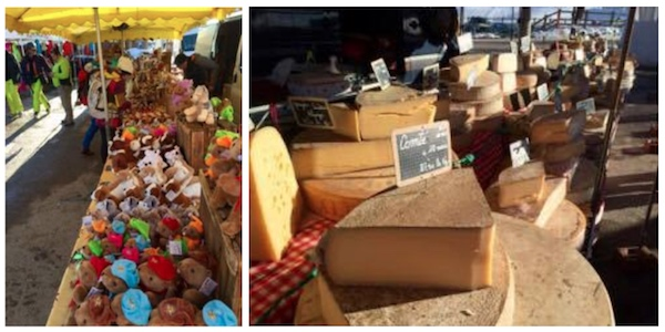Marknaden i Montgenevre nagot for allas smaker