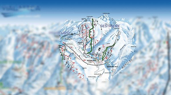 Sestriere namligen bara en liten del av det stora skidomradet har.