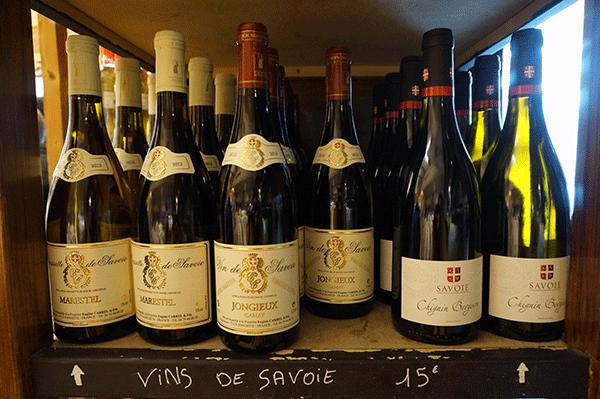 Vin från området Savoie i Rhone-distriktet