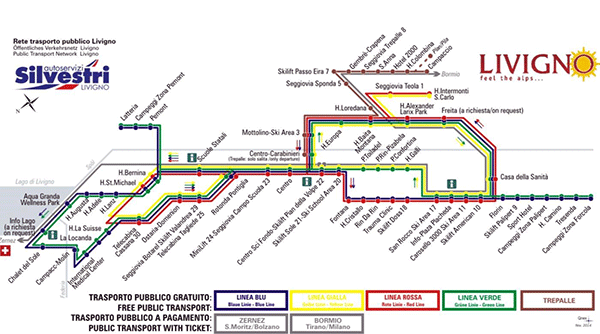 buss systemet i Livigno.