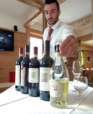vinflaskor efter vin